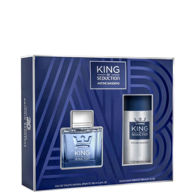 Conjunto King of Seduction Deo Antonio Banderas Masculino - Eau de Toilette 100ml + Desodorante 150ml