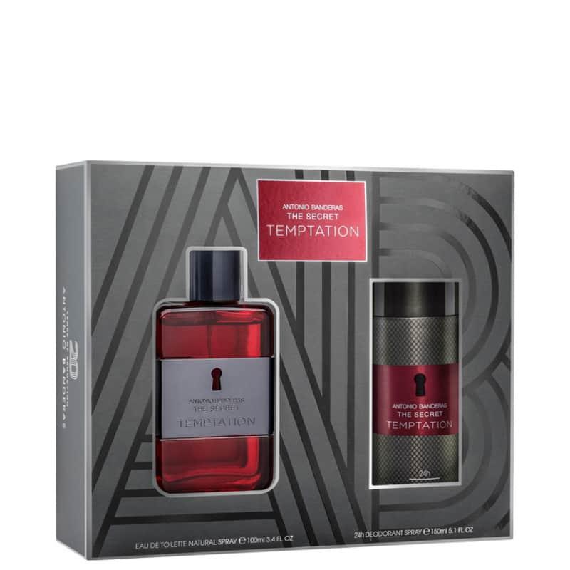 Conjunto The Secret Temptation Duo Antonio Banderas Masculino - Eau de Toilette 100ml + Desodorante 150ml