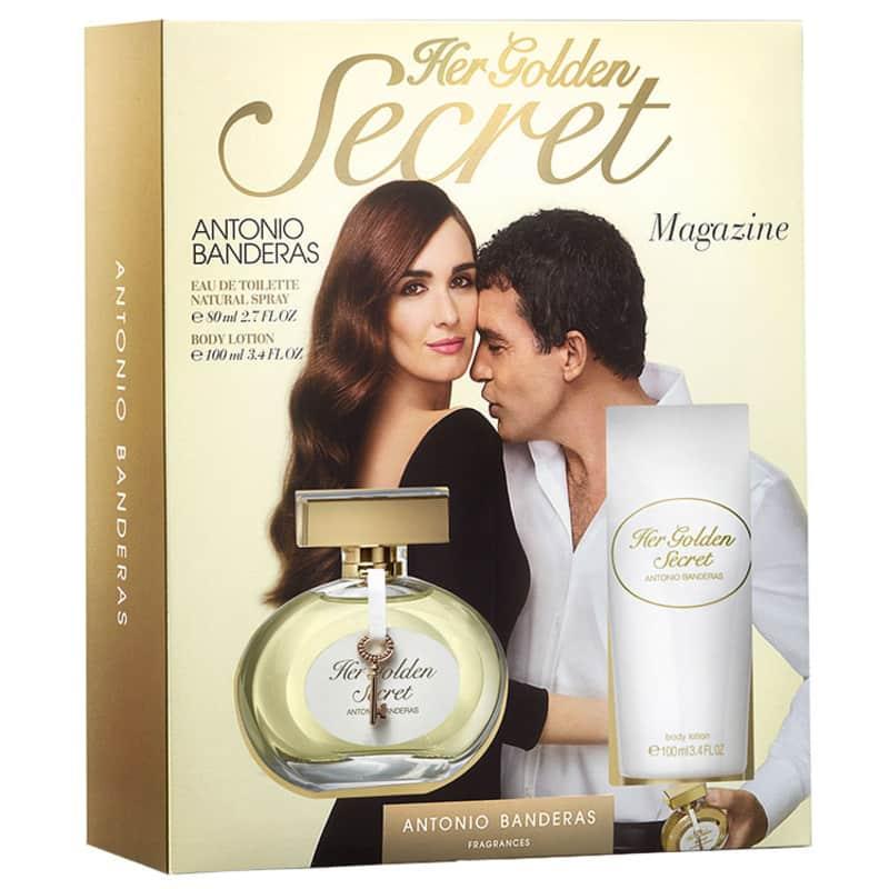 1c2fbf2645c Antonio Banderas Conjunto Feminino Her Golden Secret - Eau de Toilette 80ml  + Loção 100ml