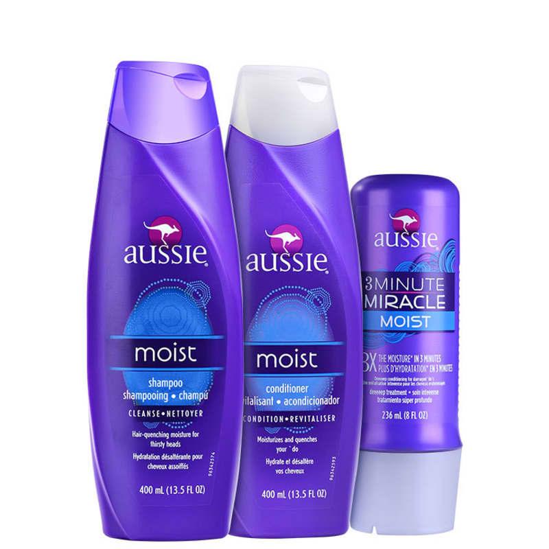 Aussie Moist Miracle Kit (3 Produtos)