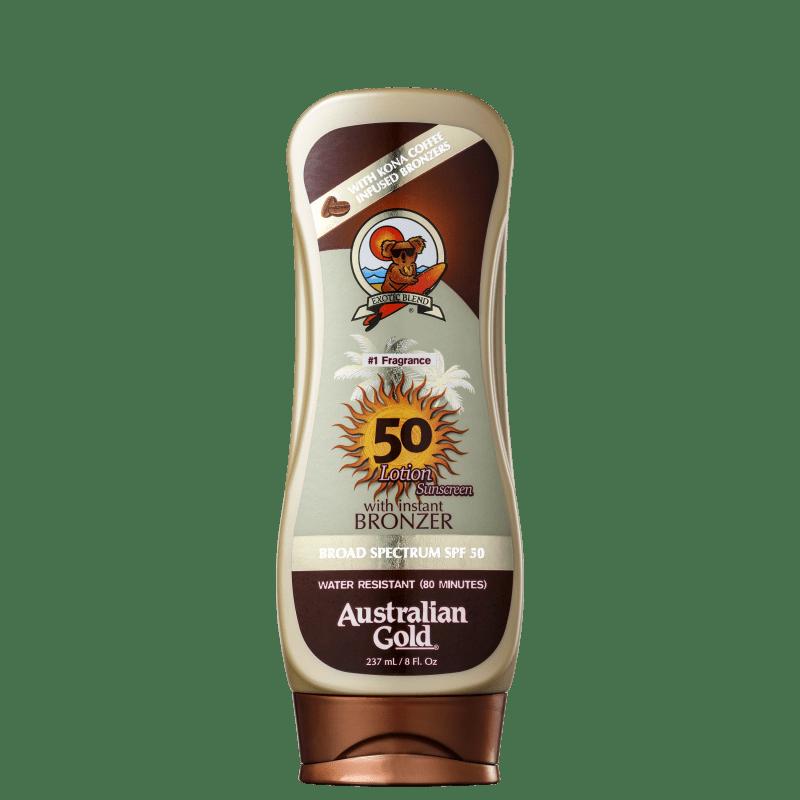 Australian Gold Lotion Kona Coffee FPS 50 - Protetor Solar em Loção 237ml