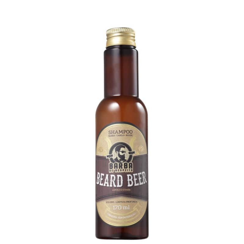 Barba de Respeito Cerveja - Shampoo Multifuncional 170ml