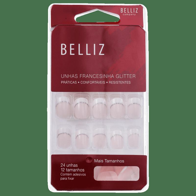 Belliz Francesinha Glitter - Unhas Postiças (24 unidades)
