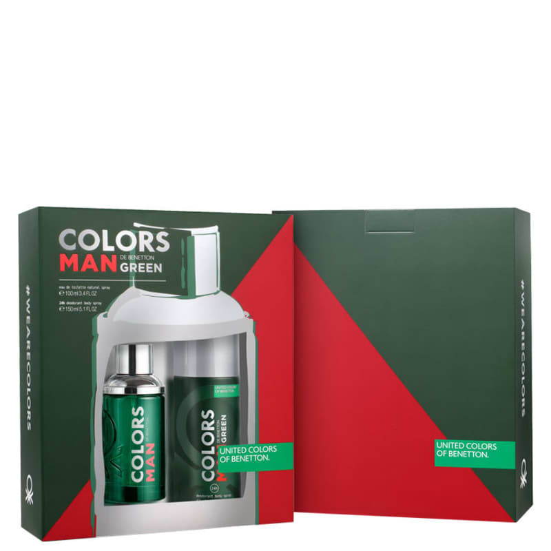 Conjunto Colors Man Green Deo Benetton Masculino - Eau de Toilette 100ml + Desodorante 150ml