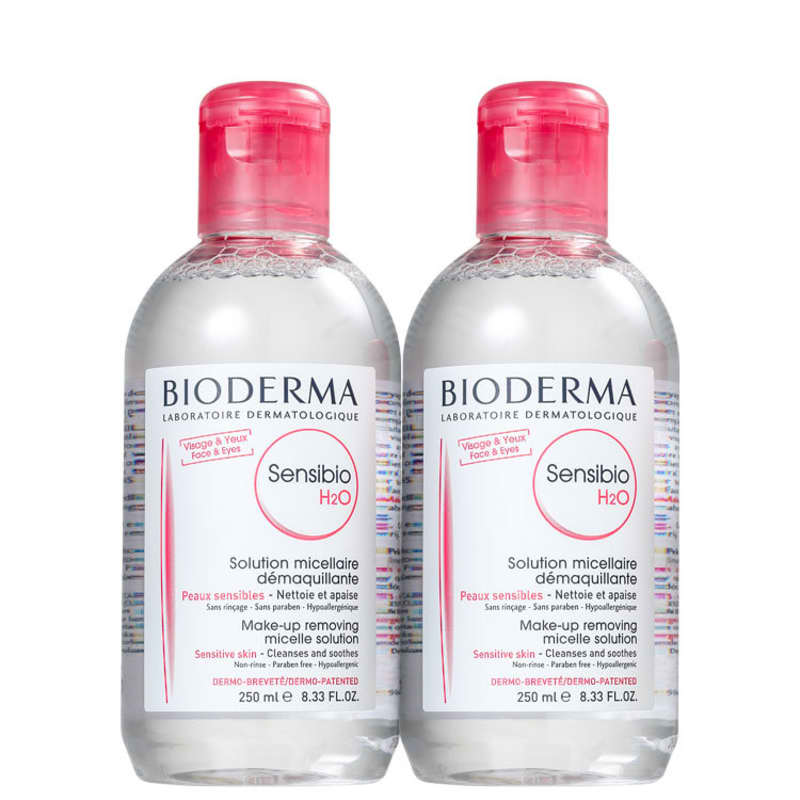 Kit Bioderma Sensibio H2O Combo - Águas Demaquilantes 2X250ml