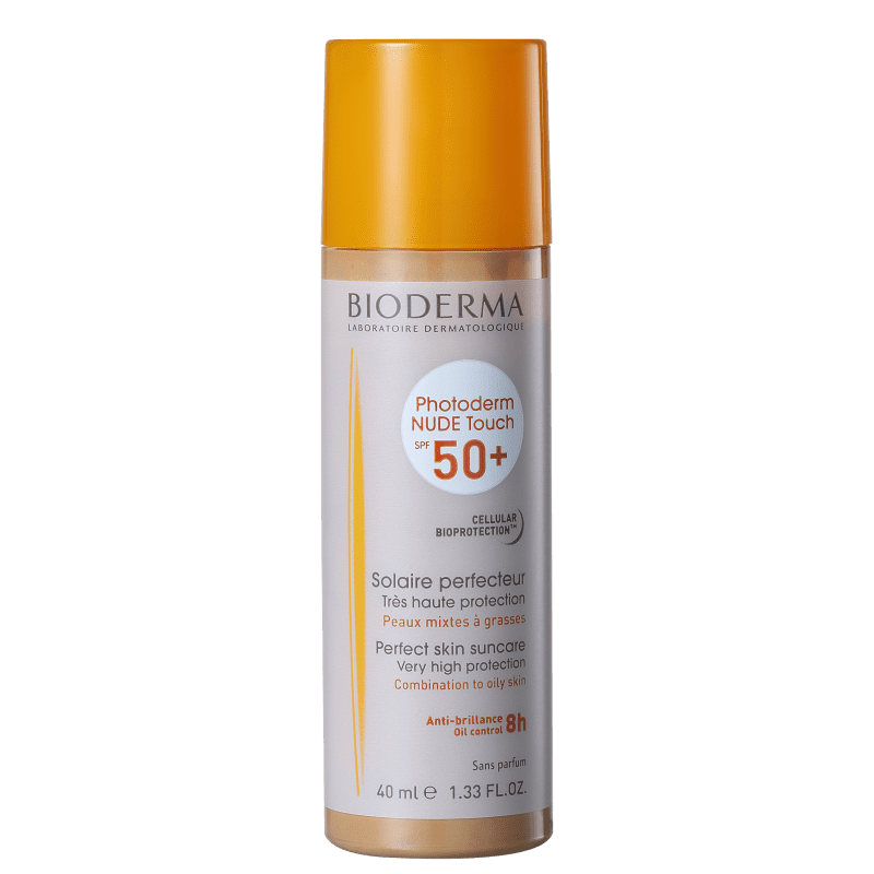 Bioderma Photoderm Nude Touch FPS 50 Dourado - Protetor Solar com Cor 40ml