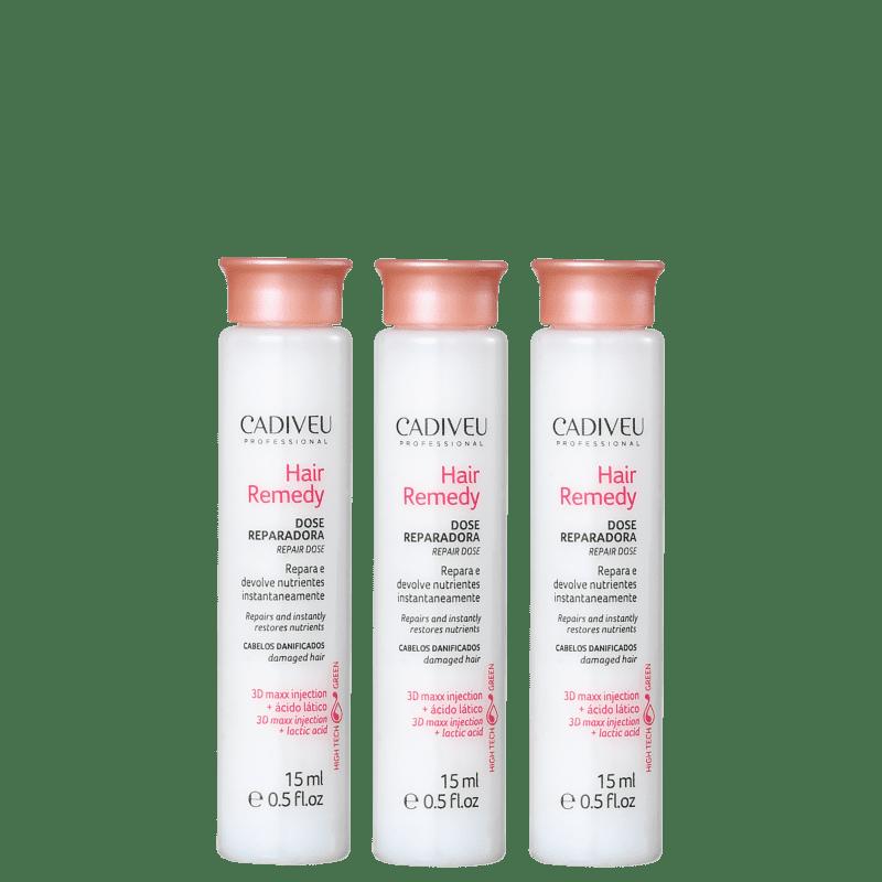 Cadiveu Professional Hair Remedy Dose Reparadora - Ampola Capilar 3x15ml