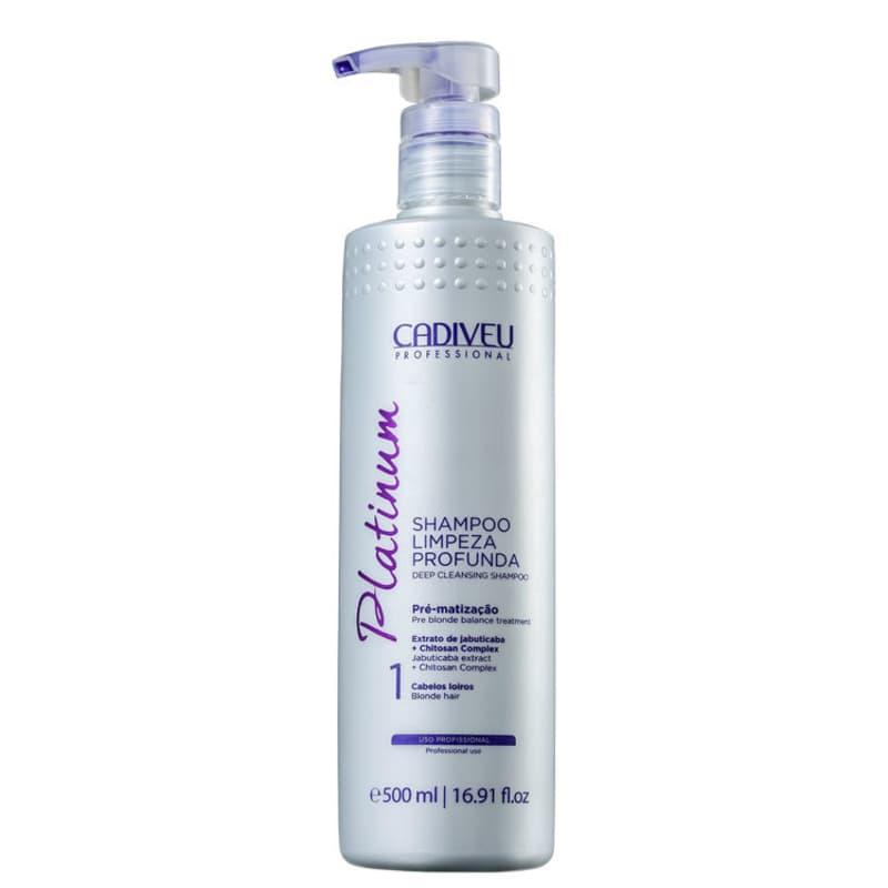 Cadiveu Professional Platinum Shampoo Limpeza Profunda 500ml