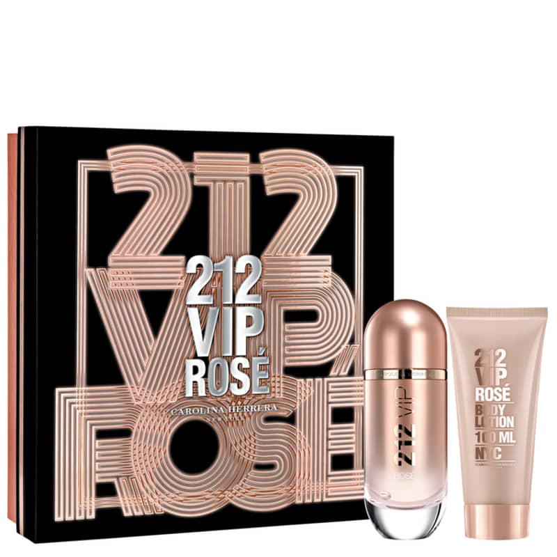 Conjunto 212 VIP Rosé Carolina Herrera Feminino - Eau de Parfum 80ml + Loção Corporal 100ml