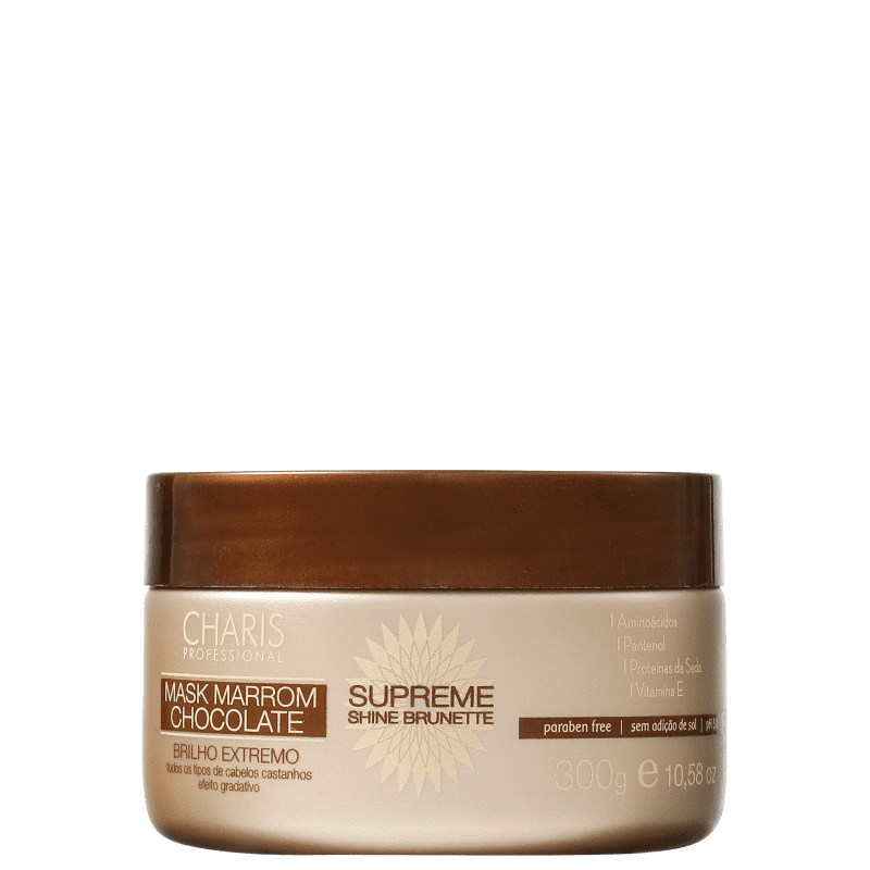 Charis Brunette Supreme Shine - Máscara Capilar 300g