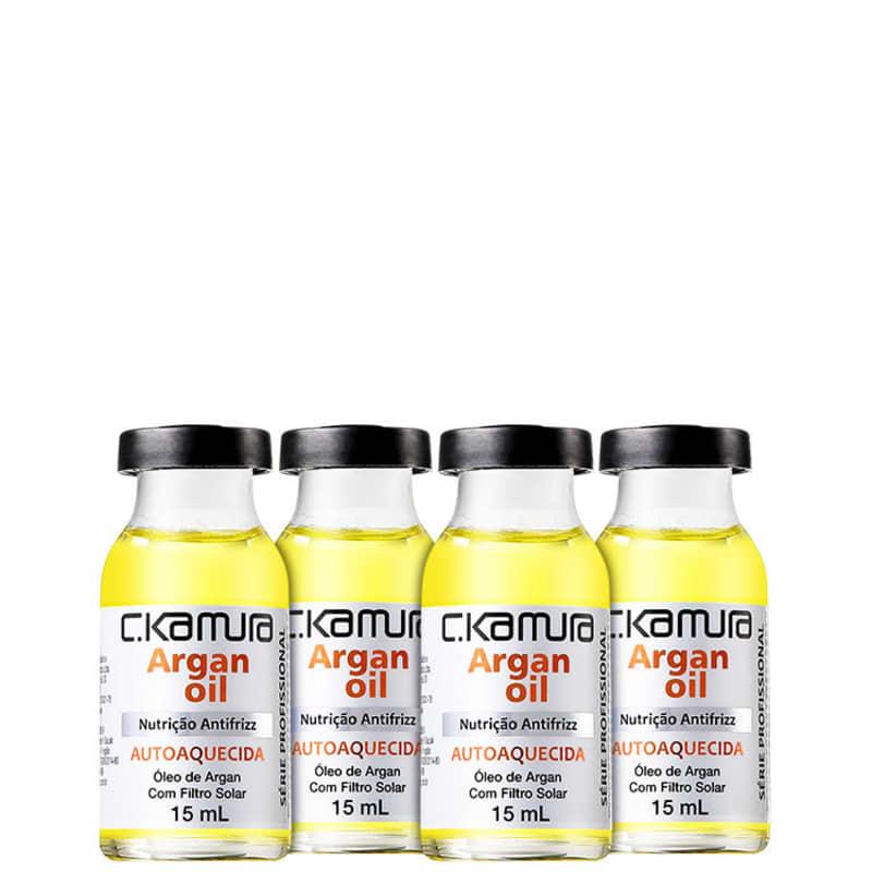C.Kamura Argan Nutri-Oil Antifrizz - Ampola de Nutrição 4x18ml