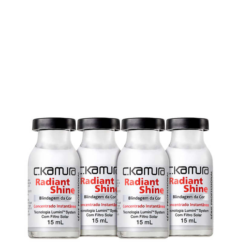 C.Kamura Radiant Shine Blindagem da Cor - Ampola Capilar 4x16ml