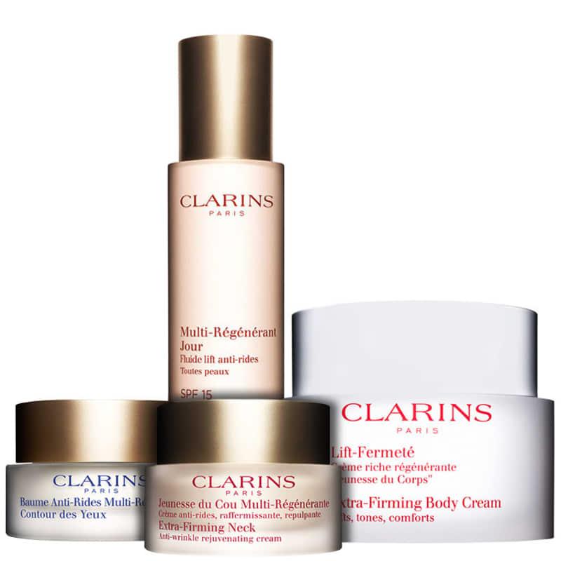 Kit Clarins Extra-Firming Advanced Wrinkle Body (4 Produtos)