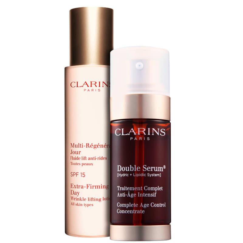 Kit Clarins Extra-Firming Double 40 anos + (2 produtos)