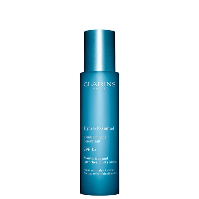 Clarins Hydra-Essentiel Moisturizes and Quenches Milky Lotion FPS 15 - Fluído Hidratante Facial 50ml