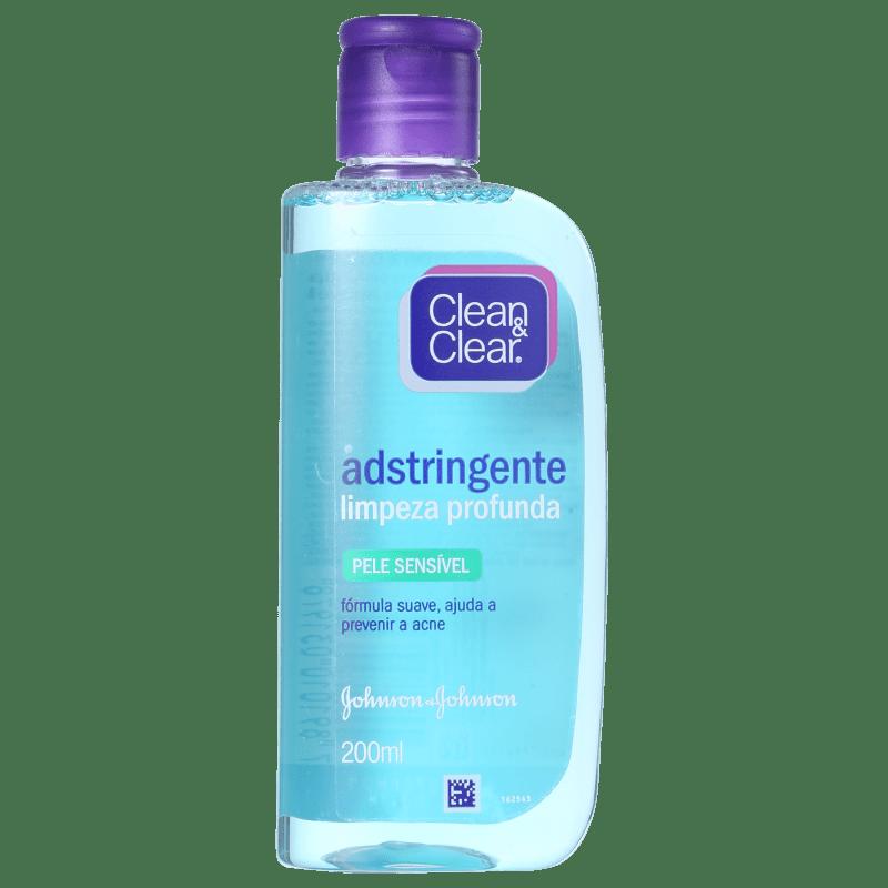 Clean & Clear Limpeza Profunda Pele Sensível - Adstringente Facial 200ml