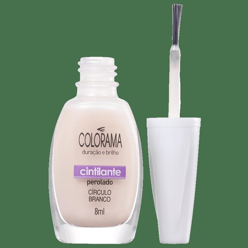 Colorama Forma em Cor Círculo Branco - Esmalte Transparente 8ml