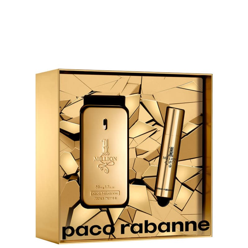Conjunto 1 Million Duo Paco Rabanne Masculino - Eau de Toilette 50ml + Travel Size 10ml