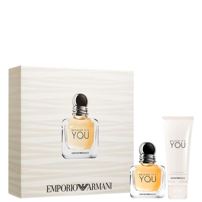 Conjunto Because It's You Giorgio Armani Feminino - Eau de Parfum 30ml + Loção Corporal 75ml