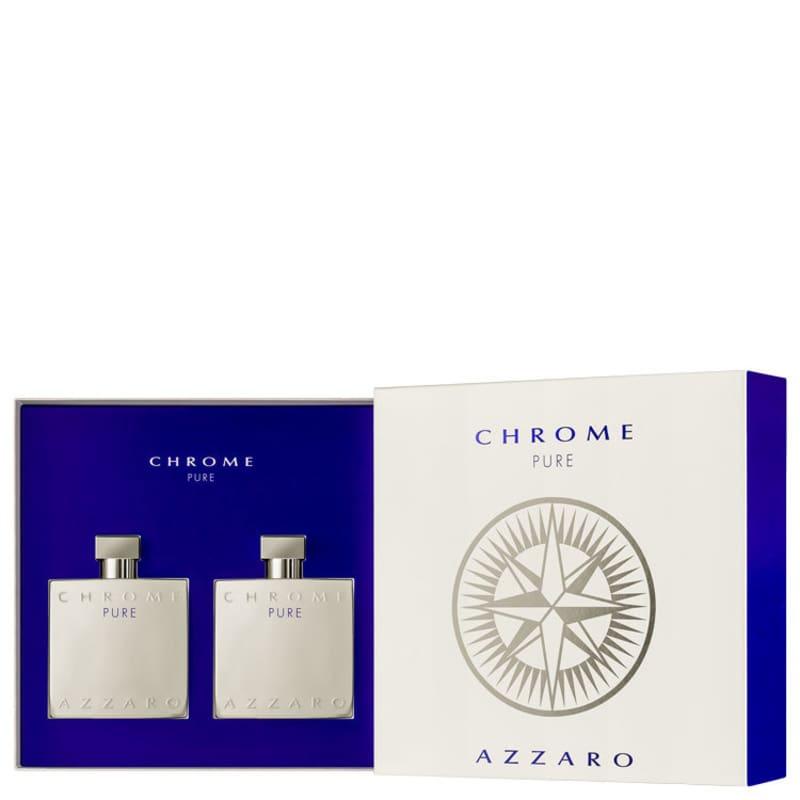 Conjunto Chrome Pure Azzaro Masculino - Eau de Toilette 100ml + Pós-Barba 100ml