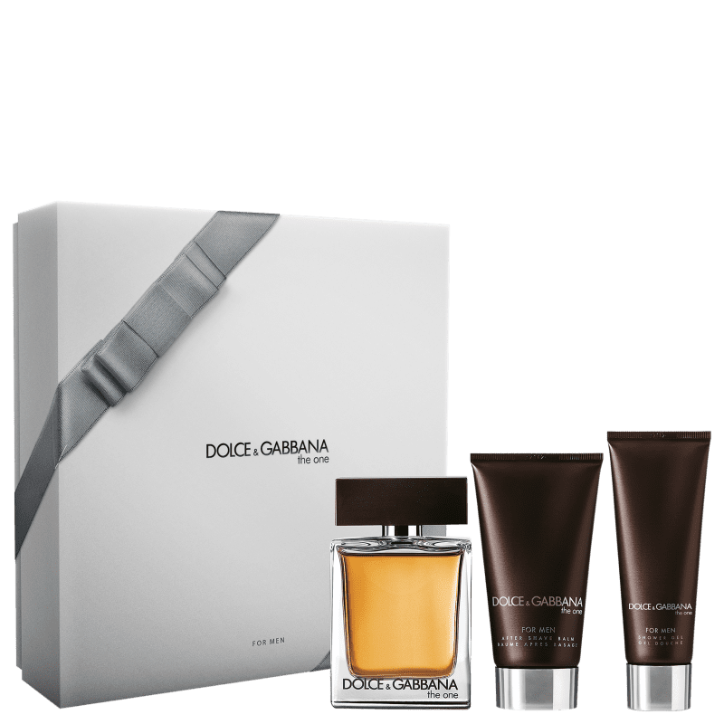 Conjunto Dolce & Gabbana The One Men Masculino - Eau de Toilette 100ml + Pós-Barba 75ml + Gel de Banho 50ml