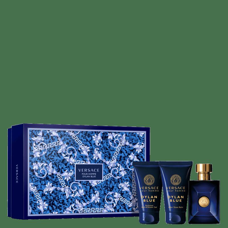 Conjunto Dylan Blue Pour Homme Versace Masculino - Eau de Toilette 50ml + Gel de Banho 50ml + Pós-Barba 50ml