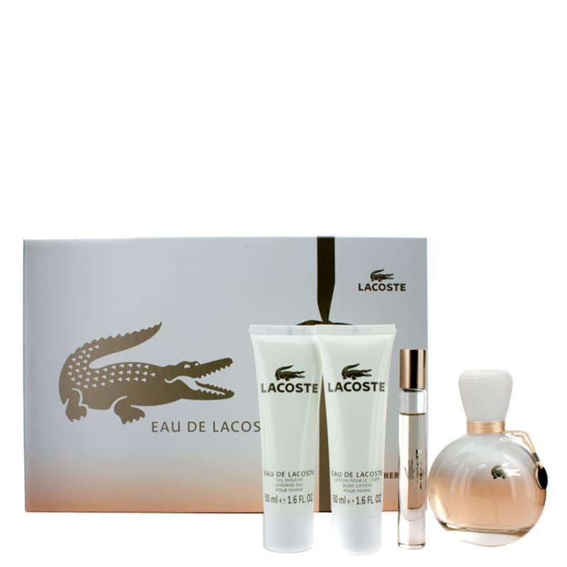 6a8c0e6c4cf99 Lacoste Conjunto Feminino Eau de Lacoste - Eau de Parfum 90ml + Miniatura  6ml + Loção 50ml