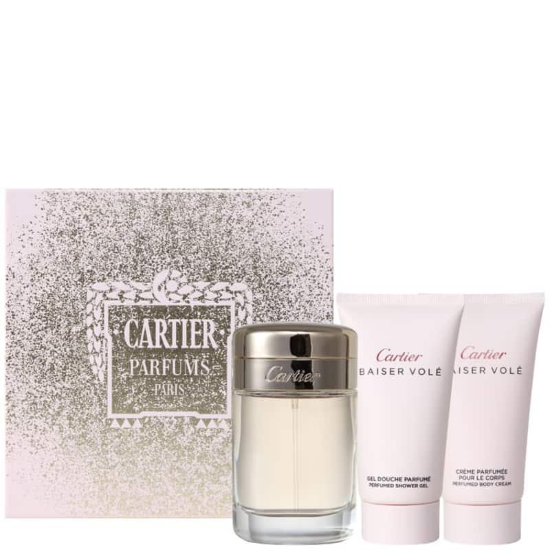 2acb1a1d435 Cartier Conjunto Feminino Baiser Volé - Eau de Parfum 50ml + Loção 50ml +  Gel 50ml