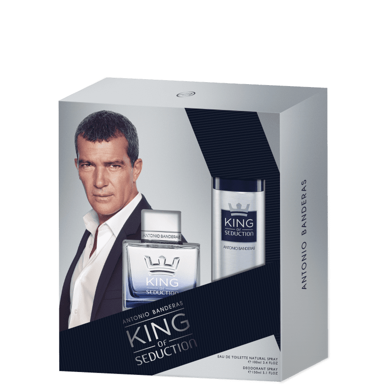 Conjunto King of Seduction Duo Antonio Banderas Masculino - Eau de Toilette 100ml + Desodorante 150ml
