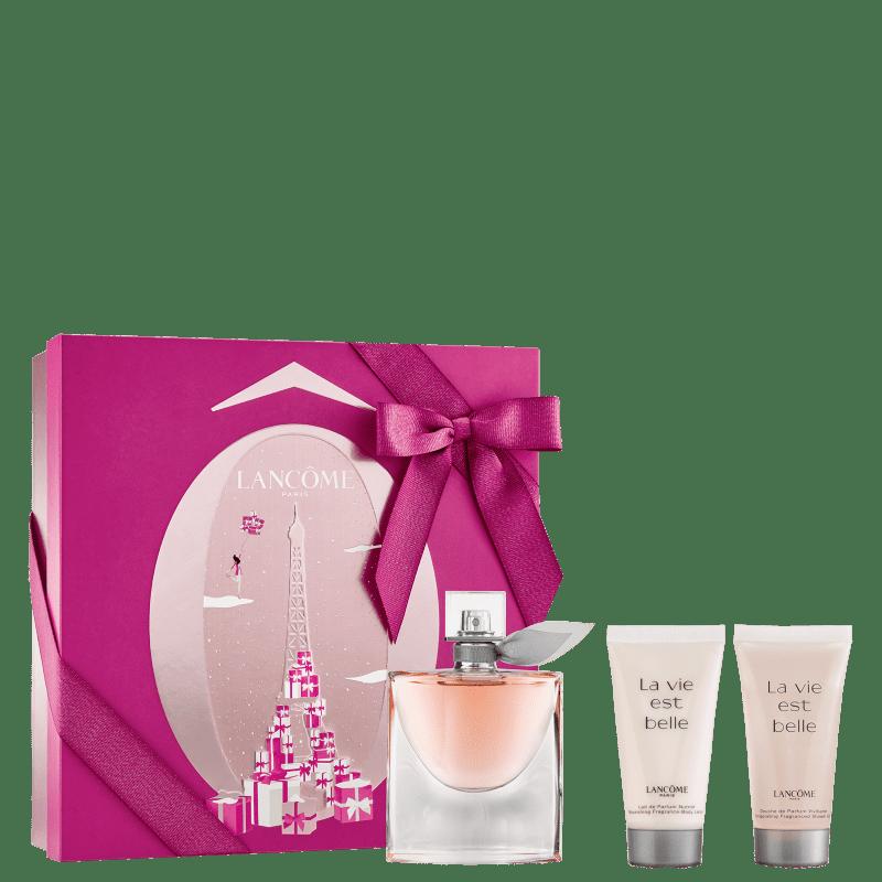 Conjunto La Vie Est Belle Lancôme Feminino - Eau de Parfum 50ml + Shower Gel 50ml + Body Lotion 50ml