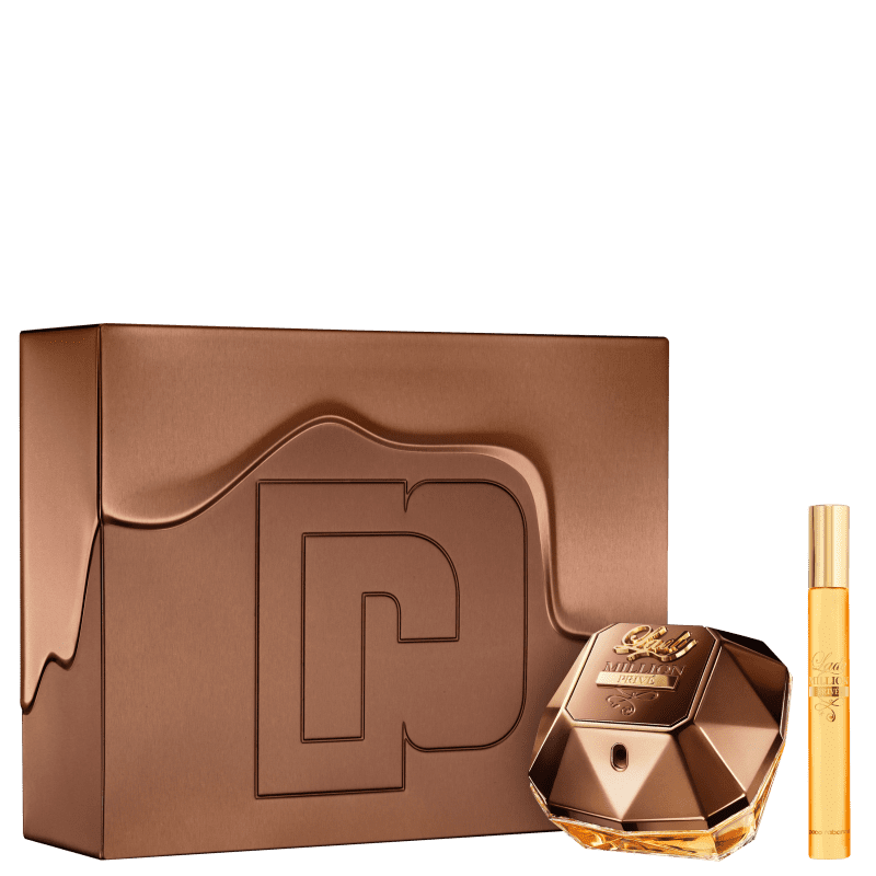 Conjunto Lady Million Privé Duo Paco Rabanne Feminino - Eau de Parfum 80ml + Travel Size 10ml