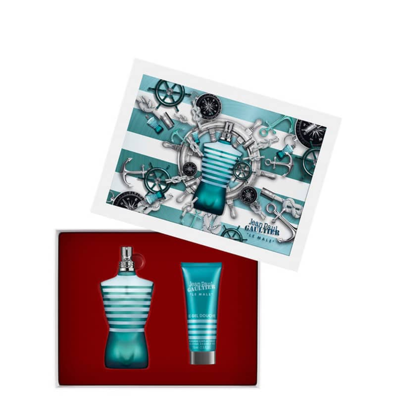 Conjunto Le Male Duo Jean Paul Gaultier Masculino - Eau de Toilette 75ml + Gel de Banho 75ml