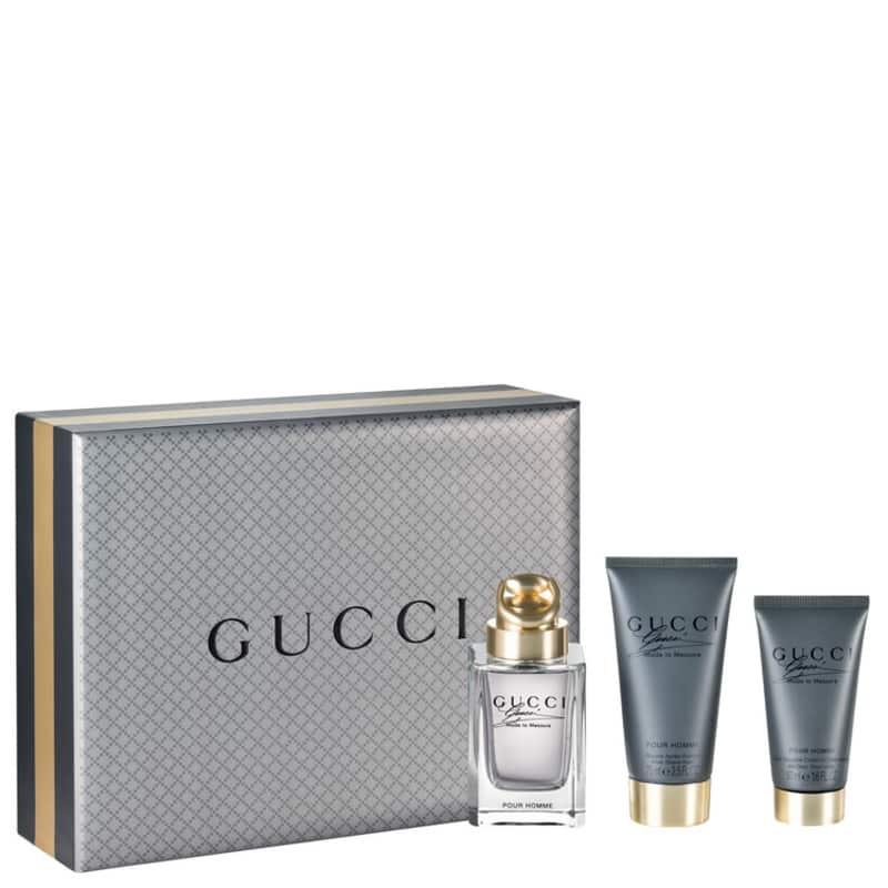 479f8f995 Conjunto Made to Measure Gucci Masculino - Eau de Toilette 90ml + Pós Barba  50ml + Shampoo 75ml