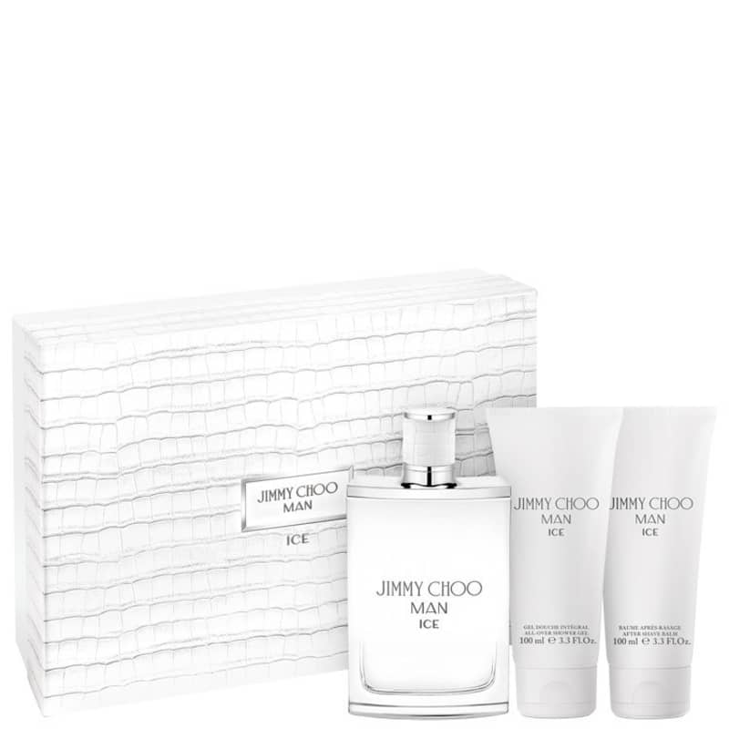Conjunto Man Ice Jimmy Choo - Eau de Toilette 100ml + Pós Barba 100ml + Gel de Banho 100ml