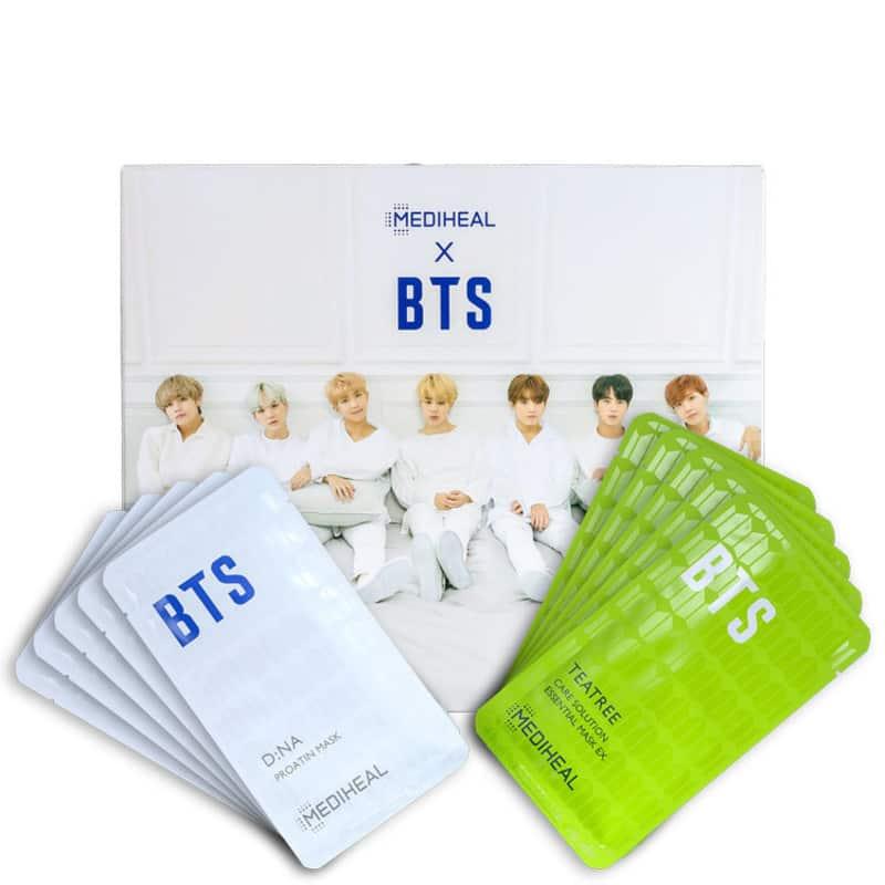 Kit Mediheal X BTS Moisturizing Care Special Set (10 Produtos + Cards)