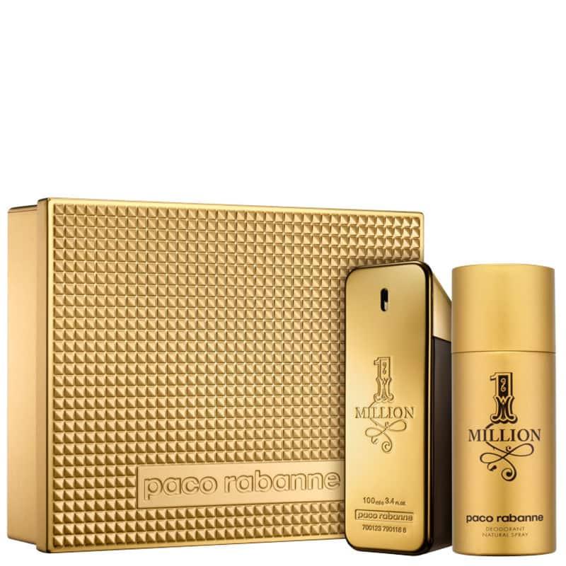 dc3dae352 Conjunto 1 Million Edição Limitada Paco Rabanne Masculino - Eau de Toilette  100ml + Desodorante 150ml