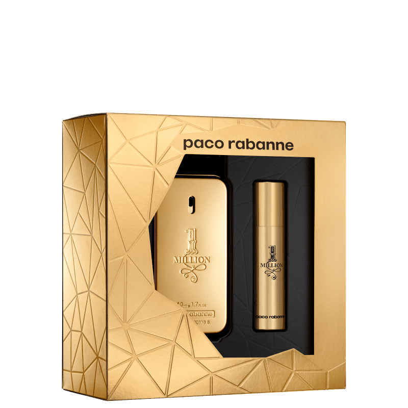 Conjunto Paco Rabanne 1 Million Masculino - Eau de Toilette 50ml + Eau de Toilette 10ml