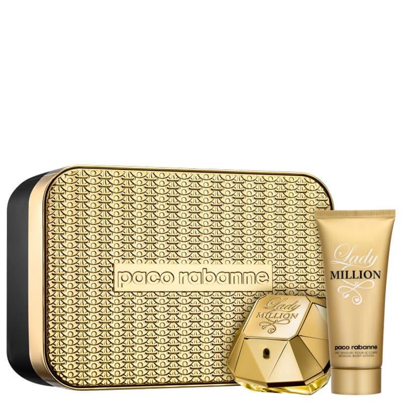 350c582f88 Conjunto Paco Rabanne Lady Million Feminino - Eau de Parfum 80ml + Loção  Corporal 100ml