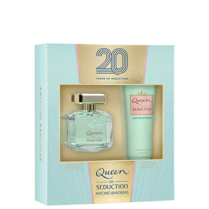 Conjunto Queen of Seduction Antonio Banderas - Eau de Toilette 80ml + Loção Corporal 75ml