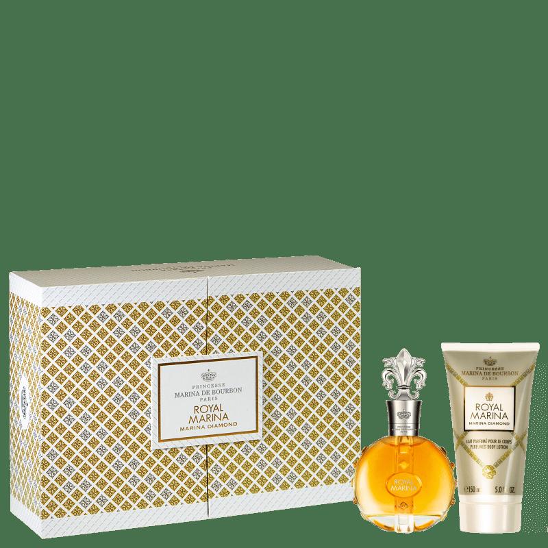 Conjunto Royal Marina Diamond Marina de Bourbon Feminino - Eau de Parfum 100ml + Loção Corporal 150ml