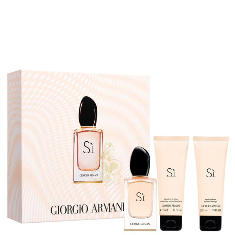 Conjunto Sì Giorgio Armani Trio Feminino - Eau de Parfum 30ml + Gel de Banho 75ml + Loção Corporal 75ml