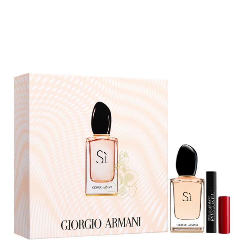 Conjunto Sì Make-Up Giorgio Armani Feminino - Eau de Parfum 30ml + Batom Rouge Ecstasy 1,5ml + Máscara para Cílios Eyes to Kill 2ml