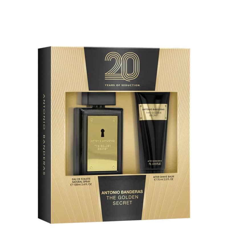 Conjunto The Golden Secret Antonio Banderas Masculino - Eau de Toilette 100ml + Pós-Barba 75ml