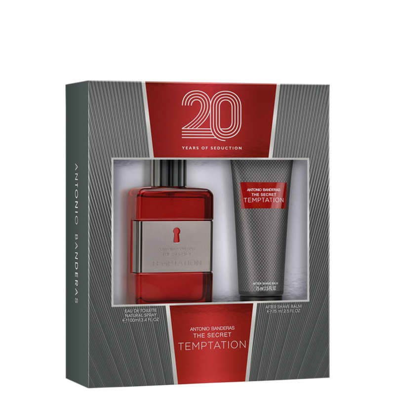 Conjunto The Secret Temptation Antonio Banderas Masculino - Eau de Toilette 100ml + Pós-Barba 75ml
