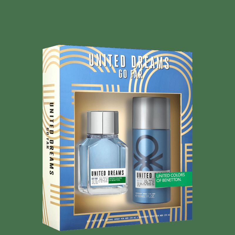 Conjunto United Dreams Go Far Body Benetton Masculino - Eau de Toilette 100ml + Desodorante 150ml