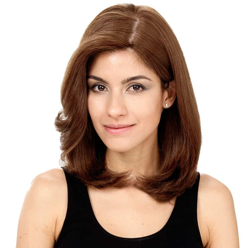 Crown Wigs Carol Castanho Médio/Claro/Louro Escuro - Peruca 35cm