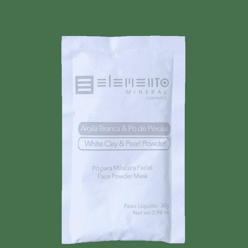 Elemento Mineral Argila Branca & Pó de Pérolas - Máscara Facial 30g