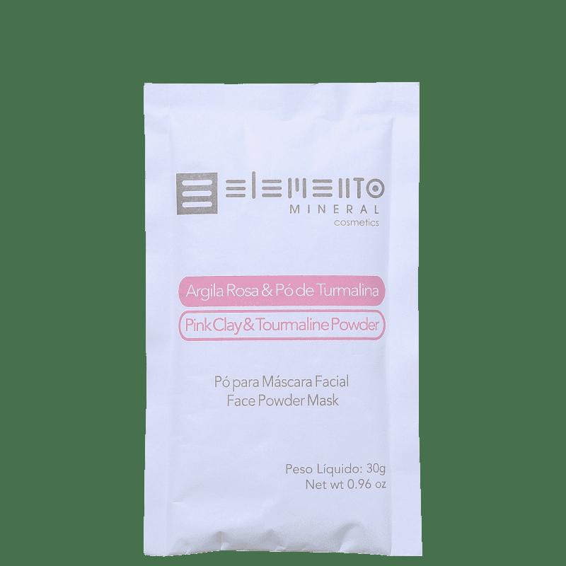 Elemento Mineral Argila Rosa & Pó de Turmalina - Máscara Facial 30g