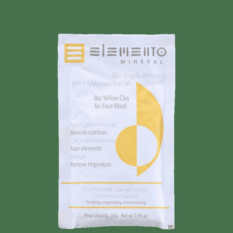Elemento Mineral Bio Argila Amarela - Máscara Facial 30g