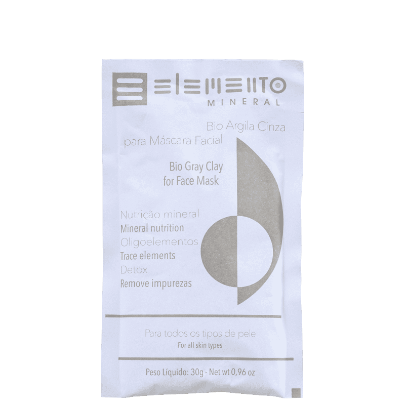 Elemento Mineral Bio Argila Cinza - Máscara Facial 30g